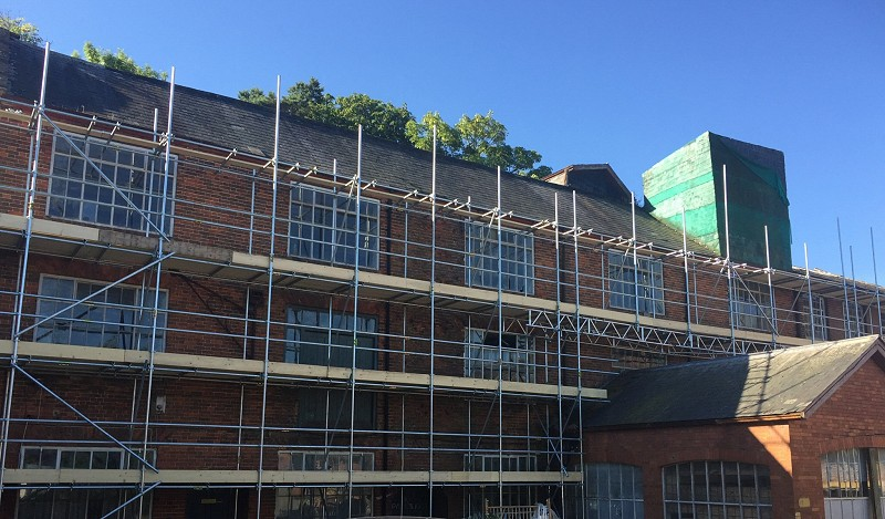 Progressive scaffold for restoration work - Wellington
